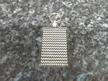 The Black Lodge Carpet Pattern Jumbo Keyring. Inspired by Twin Peaks. Agent Dale Cooper